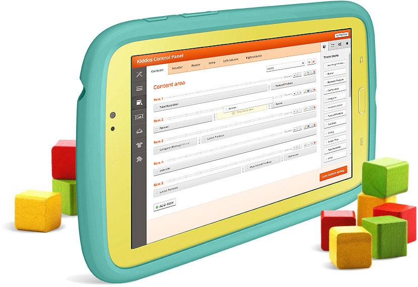 Kiddos premium opencart theme for Opencart template builder